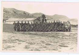 ALBANIA - ITALIAN OCCUPATION - CAMP & SOLDIERS - RPPC POSTCARD 1940s - 26 - Army & War
