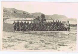 ALBANIA - ITALIAN OCCUPATION - CAMP & SOLDIERS - RPPC POSTCARD 1940s - (BG3275) - Army & War