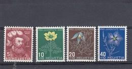 Suisse - Neufs**  -  Pro Juventute - Année 1949 - YT 493/496
