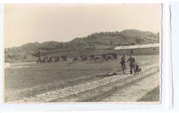 ALBANIA - ITALIAN OCCUPATION - CAMP & CANNONS - RPPC POSTCARD 1940s - 27 - Army & War