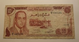 1970 - Maroc - Morocco - 1390 - 10 DIX DIRHAMS, Hassan II, BB/26 443100 - Maroc
