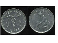 BELGIQUE 1 Franc 1929 - ( Belgie ) - 1909-1934: Alberto I
