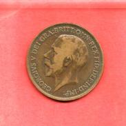 1 Penny , GRANDE BRETAGNE , Bronze , 1917 , N° KM # 810 - D. 1 Penny
