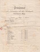 LETTRE. 30 JUIN 70.    MAINE ET LOIRE   CHOLET.  PENSIONNAT DES DAMES DE LA RETRAITE DE LA SOCIETE DE MARIE  BULLETIN - 1849-1876: Periodo Classico
