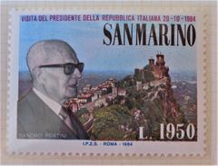 PRESIDENT ITALIEN PERTINI A SAINT-MARIN 1984 - NEUF ** - YT 1097 - MI 1303 - Saint-Marin