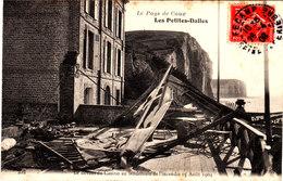 LES PETITES DALLES Le Devant Du Casino Au Lendemain De L'incendie 15/08/1904 Belle Cpa Animée  Bon état Voir Scans - France