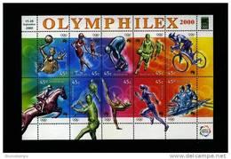 AUSTRALIA - 2000 OLYMPIC GAMES SHEETLET  OVERPRINTED OLIMPHILEX 2000  MINT NH - Blocchi & Foglietti