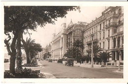 Nice - Palais De La Méditerranée - Carte Photo Glacée - Edit. L. Serandrei, Boulevard Carnot, Nice - Oldtimer - Monumenten, Gebouwen