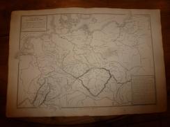 1861 Carte Géographique-Physique ALLEMAGNE-NORD (pour L'étude Des Guerres,défilé Du Franken-Wald ,etc;par Drioux-Leroy - Geographical Maps