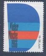 Germany Deutschland 1966 Label: Sailing, Segeln, Voile: Kieler Woche Label