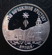 """BELARUS 20 ROUBLES 1999 SILVER PROOF """"2000 Years Of Christianity"""" Free Shipping Via Registered Air Mail - Belarus"""