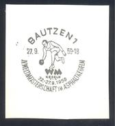 Germany Deutschland 1959 Cancellation: World Championships In Asphalt Bowling; Asphaltkegeln;