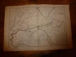1861 Carte Géographique-Physique ALLEMAGNE-SUD & ITALIE-NORD (Opérations L' Aben,le Laber,Danube,etc;  Par Drioux-Leroy - Geographical Maps