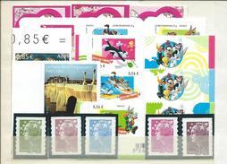 FRANCE - ANNEE 2009 - Tous Les Adhésifs émis Par Feuille Soit 24 Timbres Entre Les Numéros 265 Et 371 Dont 4 De Carnet. - Adhesive Stamps