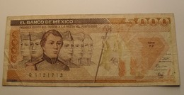 1989 - Mexique - Mexico - 5000 PESOS, Mexico . D.E. 28 MAR. 1989, Série KF, Q 1121713 - Mexiko