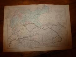 1861 Carte Géographique EUROPE CENTRALE (Empire D'Autriche,Royaume De Prusse,Confédération Germanique);par Drioux-Leroy - Geographical Maps
