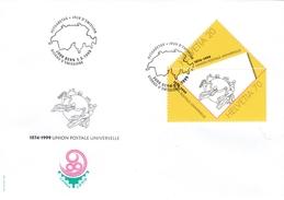Schweiz : MiNr.1690 / 1691 - Weltpostverein - Schön Illustr. Ersttagsbrief - FDC