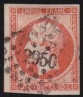 France    .    Yvert    .    16       .       O        .             Oblitéré - 1853-1860 Napoléon III.