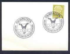 Germany 1955 Cancellation: Championship Weight Lifting; Weltmeisterschaft Gewichtheben; Musculation;