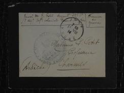 """""""FRANCE EN GUERRE"""" SUR LETTRE DE 1914 EN FM FRANCHISE MILITAIRE CACHET INFANTERIE COLONIALE LYON WW1 - Postmark Collection (Covers)"""