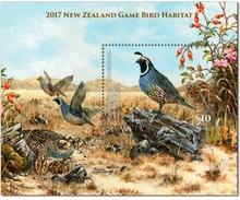 New Zealand 2017 MS MNH Game Bird Habitat California Quail Birds Caille