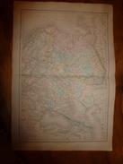 1861 Carte Géographique Physique Et Politique De La RUSSIE D' EUROPE  ;par Drioux Et Leroy; Gravure De Jenotte - Geographical Maps