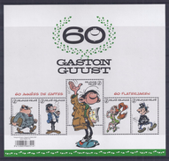 Belgie - Belgique Blok  -  60 Jaar Gaston Flater  - 60 Ans Gaston Lagaffe - Franquin - Philabédés