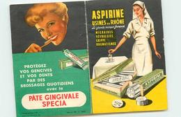 CARTE DE POIDS AVEC PUB DENTIFRICE ET ASPIRINE - Publicités