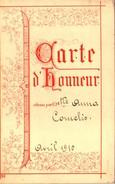 Eerekaart - Carte D' Honneur - Anna Cornelis - Avril 1910 - Diplomi E Pagelle