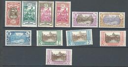 """Oceanie Yt 69 à 79 """" Tahitiens Et Vallée, Complet """" 1926-27 Neuf* - Oceania (1892-1958)"""