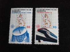 "Liechtenstein - Europa 1988 ""Les Transports"" - Y.T. 878/879 - Neuf ** Mint MNH - Europa-CEPT"
