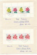 DRESDEN  - 1972 ,  Heftchenblätter Rosen   -   2 Briefe Nach Schloss Holte