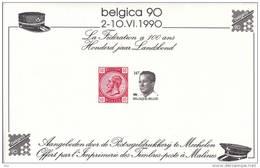 BELGIË - OBP - 1990 - < BELGICA ´90> 100 Jaar/Ans Landsbond/Fédération - MNH** - Souvenir Cards