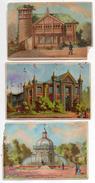 Lot De 3 Chromos --  Reprenant Le Thème Expo Universelle PARIS  1878 - ....à Saisir - Chromos
