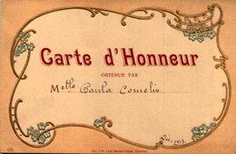 Eerekaart - Carte D' Honneur - Paula Cornelis - Déc. 1913 - Diplomi E Pagelle