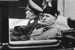 Militaria WW2 - Mussolini Accueille à Rome Le Maréchal Goering - 1939-45