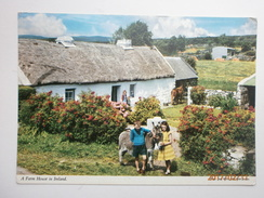 Postcard A Farm House In Ireland With Children & Donkey By John Hinde My Ref B2386 - Ireland
