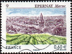 Oblitération Moderne Sur Timbre De France N° 4645 - Site - Epernay - Champagne - Les Vignes - France