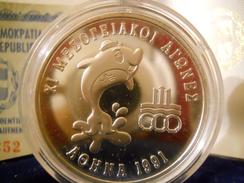 GREECE 500 DRACHMES 1991 SILVER PROOF XI MEDITERRANEAN GAMES ATHENS 1991 - Grecia