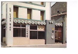 11 Narbonne Hotel Du Lion D' Or Restaurant De Michel Bonnet Poele D'or 1972 , Carte Double , 39 Avenue Pierre Semard - Narbonne