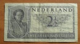 1949 - Pays-Bas - Netherlands - 2 1/2 GULDEN, 8 AUGUSTUS 1949, 3 KF 068720 - 2 1/2 Gulden