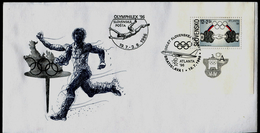 509 SLOVAKIA ATLANTA´96 Cover Abfahrt Des Slowakische-departure Of The Slovak Team Olympiade-Olympia Olymphilex 1996