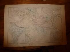 1861 Carte Géographique Physique Et Politique ASIE OCCIDENTALE Comparée Entre Méditerranée Et Indus;par Drioux Et Leroy - Geographical Maps