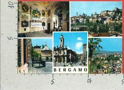 CARTOLINA VG ITALIA - BERGAMO - Panorama - Vedutine - 10 X 15 - ANN. 1973 Salviamo Venezia - Bergamo