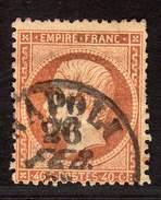 FRANCE CLASSIQUE MARCOPHILIE YT 23 OBLITERATION ITALIE NAPOLI - 1849-1876: Classic Period