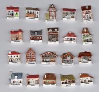 TRES RARE Série Complète 20 Fèves FACADES Maisons Régionales - Savoie, Armagnac, Béarn, Alsace, Nord - Regions