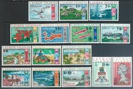 Cayman Islands  1969   Sc#227-41   Surcharges Set     MLH*  2016 Scott Value $9.60 - Kaimaninseln