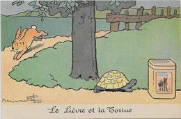 CPA Benjamin RABIER Publicité Publicitaire  Chocolat LOMBART  Non Circulé Lapin Tortue Turtle - Rabier, B.