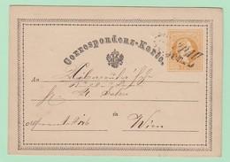 AUT.2 Entier Postal François Joseph 2kr CP P1   Troppau 14.10.1870  Pour Wien - Interi Postali