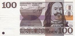Netherlands 100 Gulden 1970 VF-EXF P-93a - [2] 1815-… : Regno Dei Paesi Bassi